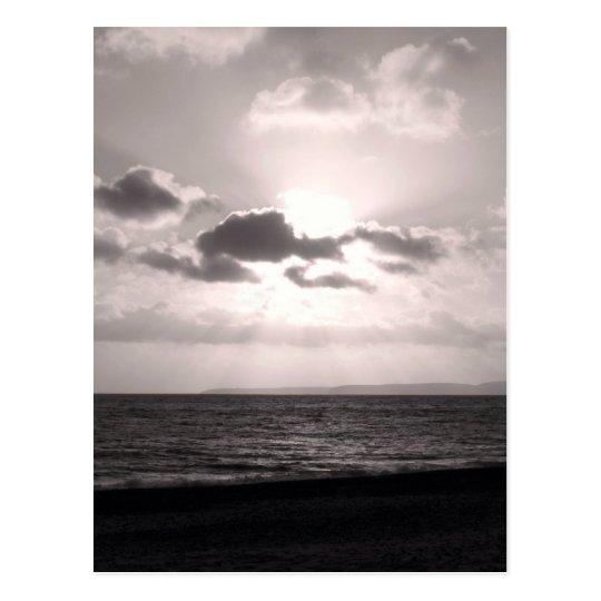 Black & White Sunbeams Postcard