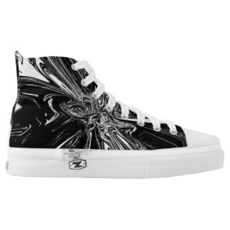 Black & White Swirl Pattern High Tops