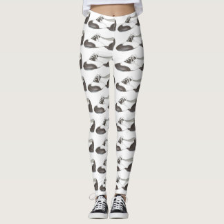 Black White Tap Oxford Dance Shoe Dancer Leggings