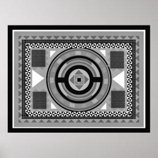 Black & White Tapestry Poster