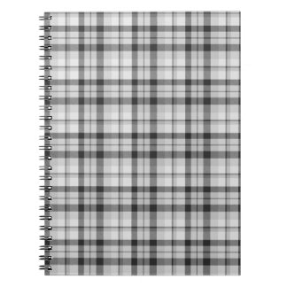 Black&white Tartan Notebook