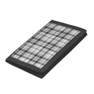 Black&white Tartan Wallet