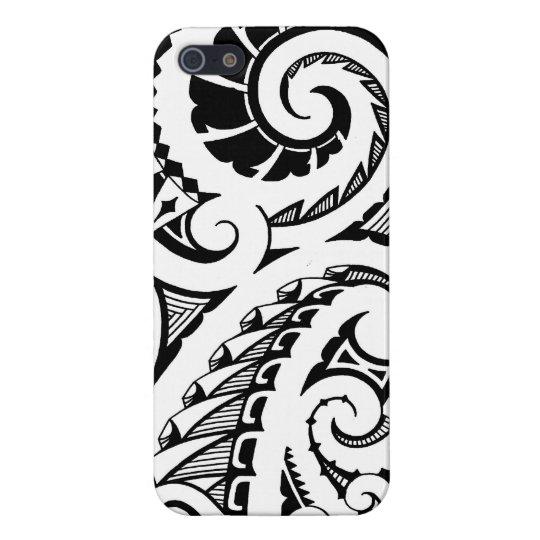 black & white tattoo design in Maori style
