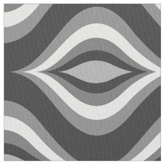 Black & White Teardrops Modern Geometric Pattern
