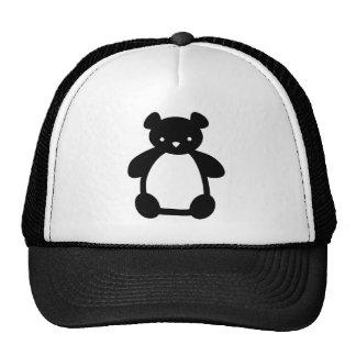 Black white teddy bear hat