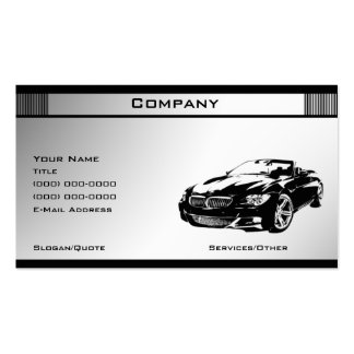 Black White Template 5 Business Card