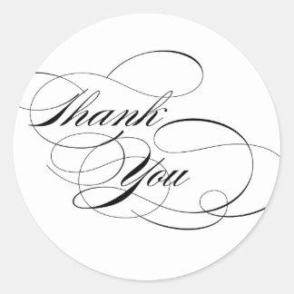 Black & White Thank You Sticker