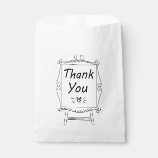 Black & White Thank You Wedding, Bridal Shower Favour Bags