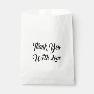 Black  White Thank You Wedding Bridal Shower Party Favour Bags