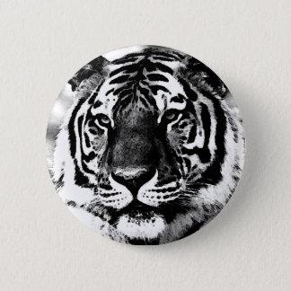 Black & White Tiger 6 Cm Round Badge