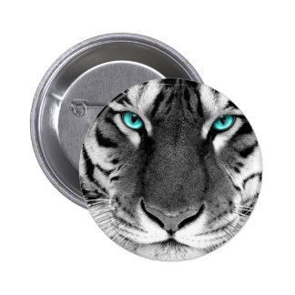 Black White Tiger 6 Cm Round Badge