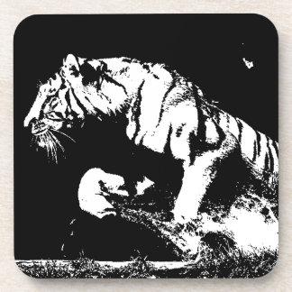 Black & White Tiger Coaster