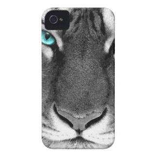 Black White Tiger iPhone 4 Case