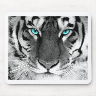 Black White Tiger Mouse Mat