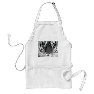 Black White Tiger Standard Apron