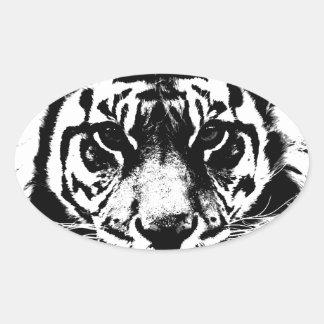 Black White Tiger Stickers