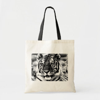 Black & White Tiger Tote Bag