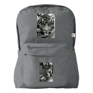 Black&white tigers on American Apparel backpack