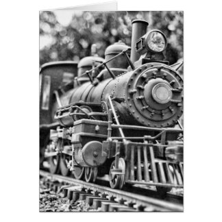 Black & White Train card