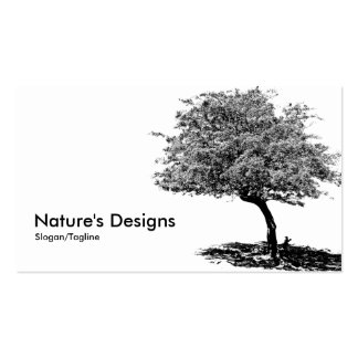 Black White Tree Business Cards