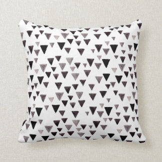 Black & White Triangle Pattern Pillow