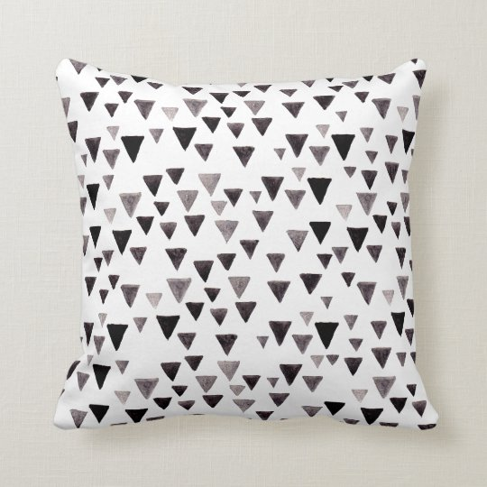 Black & White Triangle Pattern Pillow