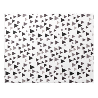 Black & White Triangles Notepad
