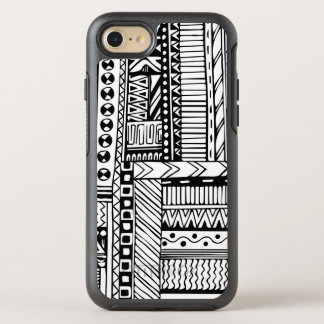 Black white Tribal pattern phone 7 OtterBox Symmetry iPhone 8/7 Case