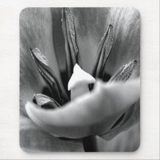 Black White Tulip Mousepads
