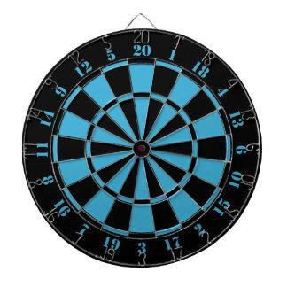 Black White Turquoise Dart Board