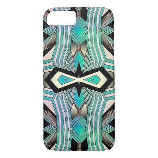 Black, White & Turquoise Geometrical Line Art iPhone 8/7 Case