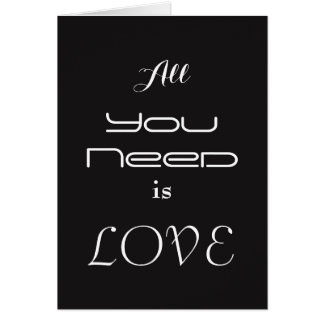 Black & white typography Valentine's card