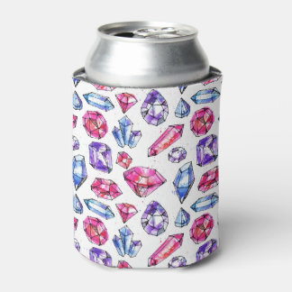 Black & White Unicorn Sketch - Colorful Polka Dots Can Cooler