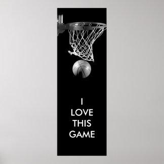 Black & White Unique Basketball Art Poster