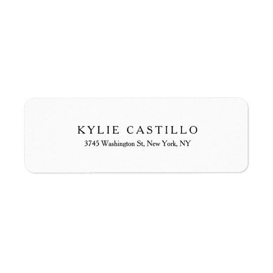 Black White Unique Classical Professional Return Address Label