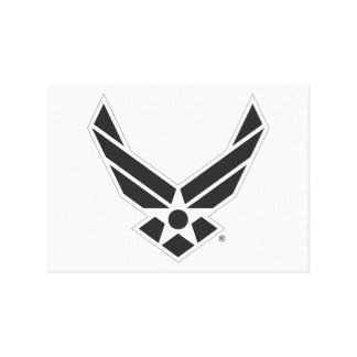 Black & White United States Air Force Logo Stretched Canvas Prints