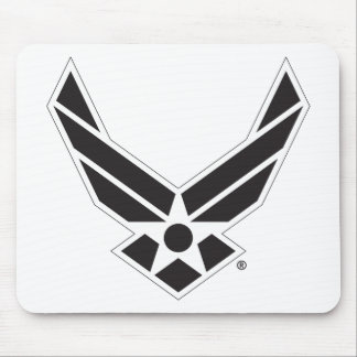 Black & White United States Air Force Logo Mouse Pad