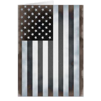 Black & White US American Flag Card