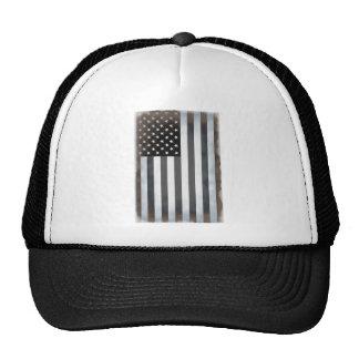 Black & White US American Flag Trucker Hat