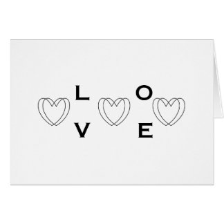 Black & White Valentine's Day Card with Your Names