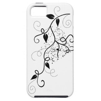Black & white vector ivy swirl branch silhouette iPhone 5 case