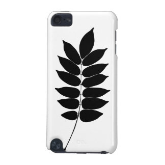 Black white vector laurel branch silhouette iPod iPod Touch (5th Generation) Case