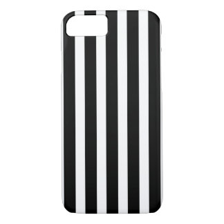 Black White Vertical Stripes iPhone 8/7 Case