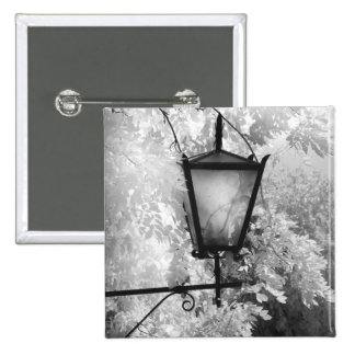 Black & White view of light fixture 15 Cm Square Badge