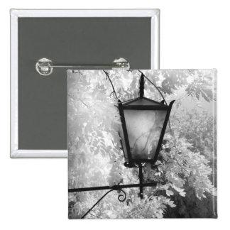 Black & White view of light fixture 15 Cm Square Badge