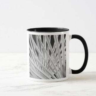 Black & White view of palm tree fronds Mug