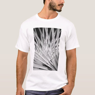 Black & White view of palm tree fronds T-Shirt