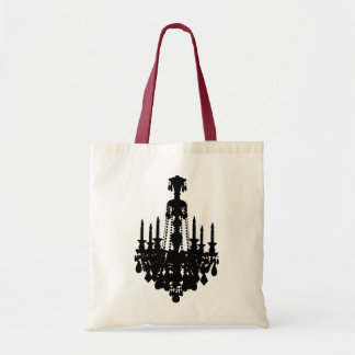 Black & White Vintage Chandelier Graphic Tote Bags