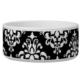 Black White Vintage Damask Pattern 1