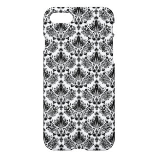 Black & White Vintage Floral Damasks Pattern iPhone 8/7 Case